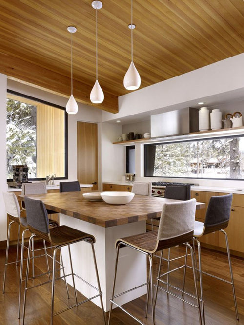 Mountain House LIVING AND DINING Room Decor With Wooden Furniture   Mountain  Houses   Modern Mountain House Designs   Cabin Architecture  Contemporary  Cozy ...