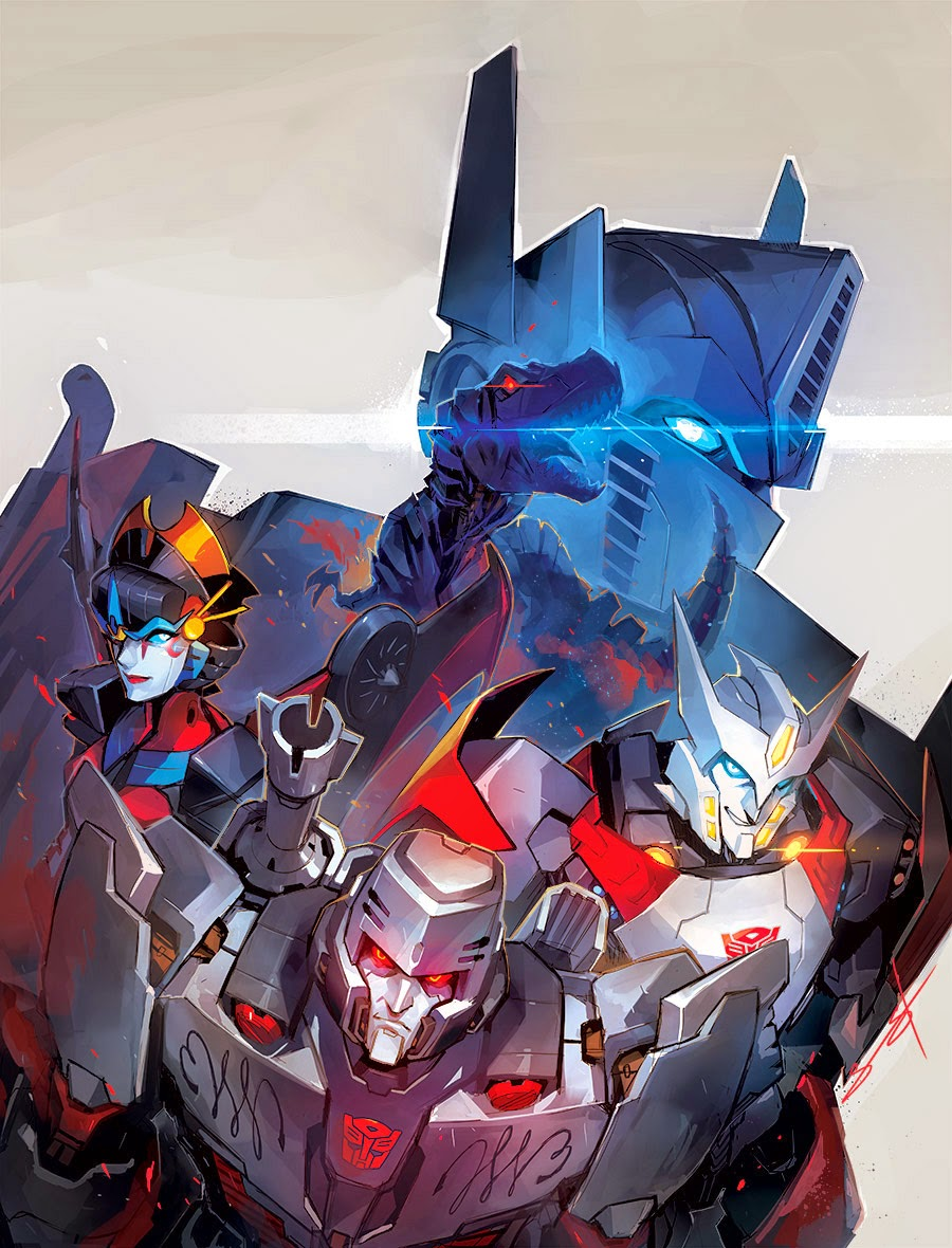 Transformers cover art by Sarah Stone