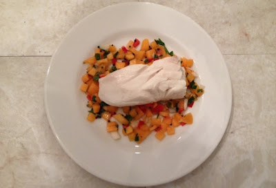 Poached Halibut With Apricot Salsa Recipe
