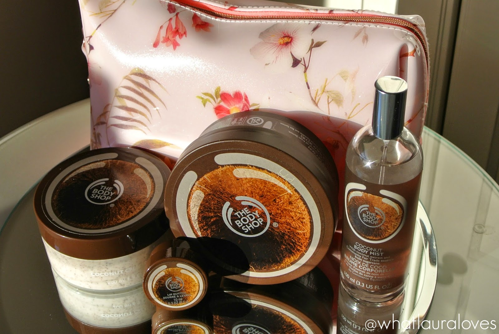 The Body Shop Coconut Range Gift Set Coconut Body Butter Coconut Body Scrub Body Fragrance Mist Lip Butter