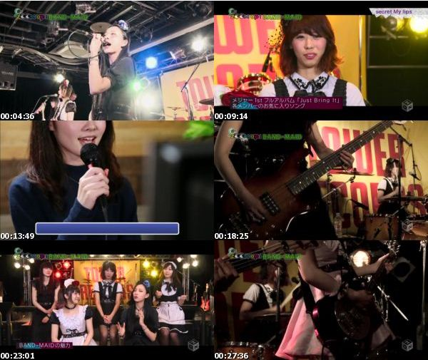 [TV-Variety] BAND-MAID® – M-ON! ZOOM UP! – 2017.01.22
