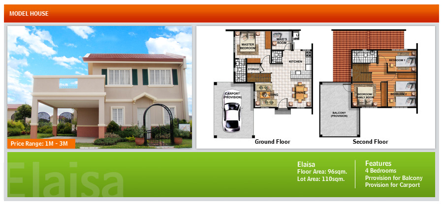 House and lot for sale in cebu and bohol floor plans of for Camella homes design with floor plan