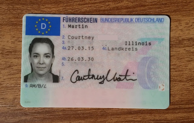 My German driver's license