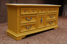 Custom Yellow and Gray Dresser