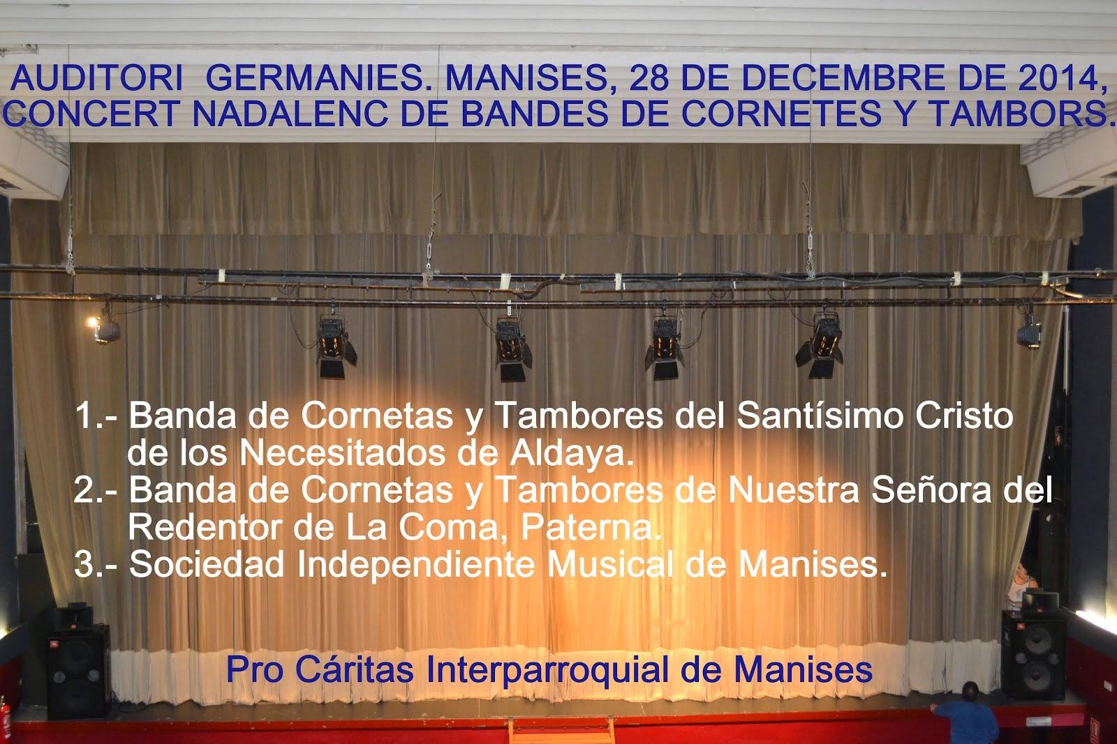 CONCIERTO DE BANDAS DE CORNETAS Y TAMBORES EN MANISES