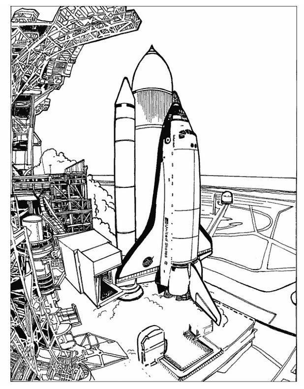 Dibujos para colorear de cohetes - Coloriage fusee ...