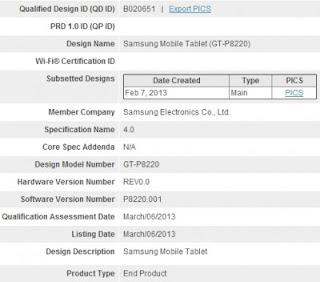 Samsung Galaxy Tab 3 Plus Muncul