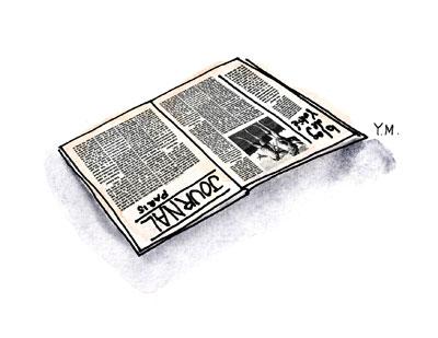 Newspaper by Yukié Matsushita