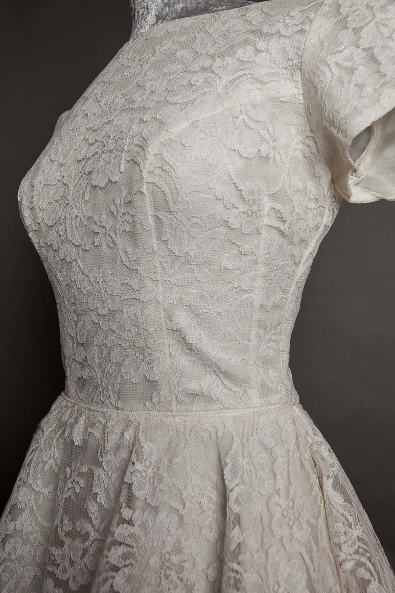 1950s lace wedding dress, c Heavenly Vintage Brides