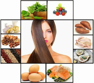 healthy hair foods