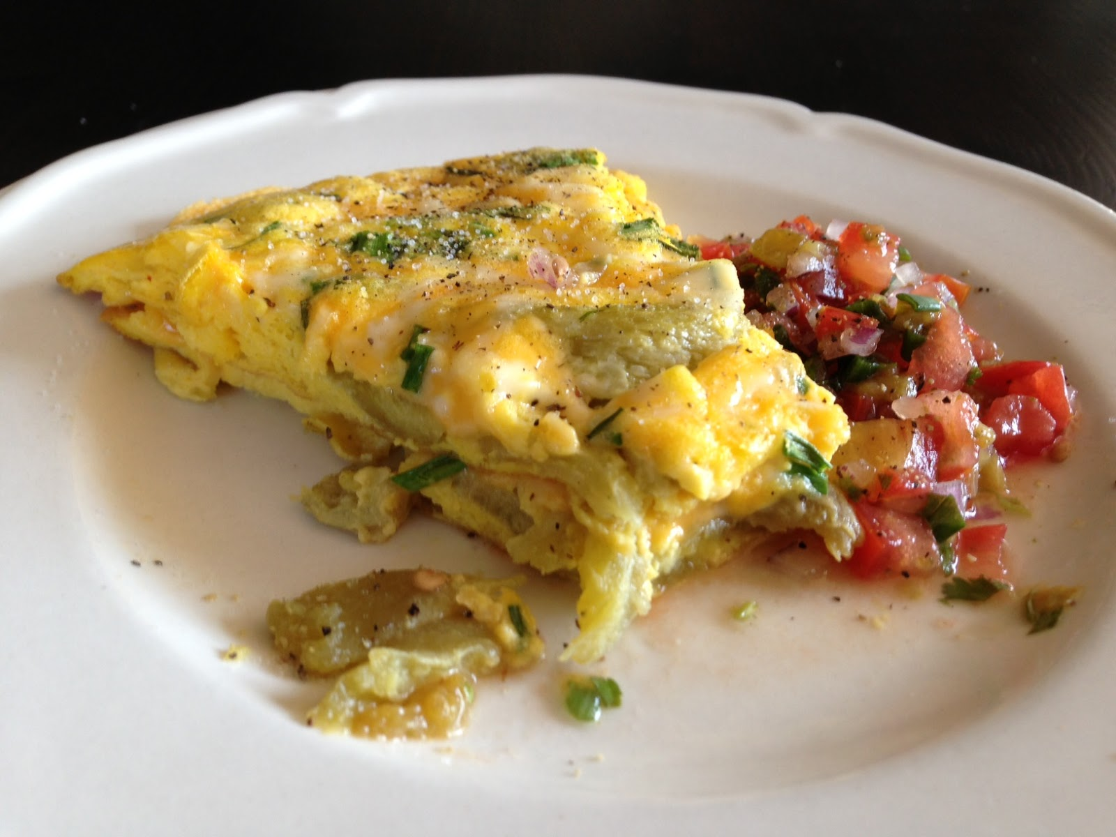 cheese omelet roll goat cheese and fresh herb omelet two chile potato ...