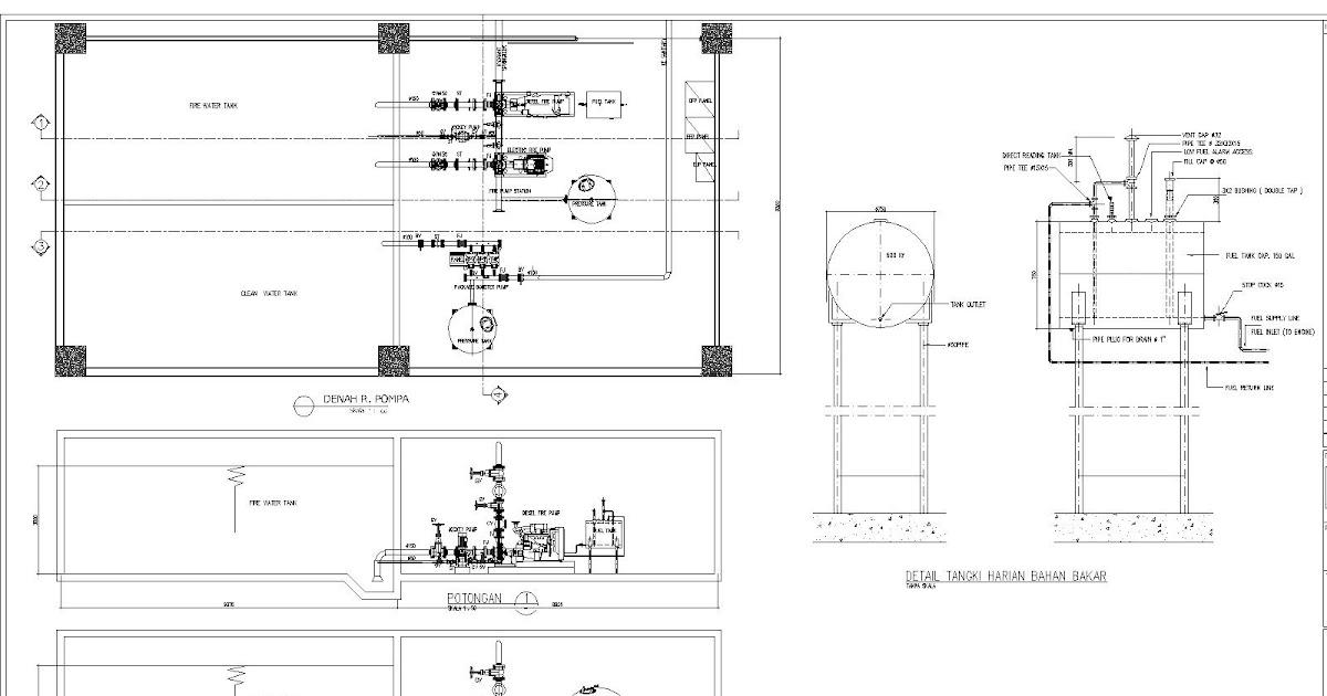 Mep  Mekanikal Elektrikal Plumbing  Ruang Pompa Hydrant Springkler Dan Pompa Booster