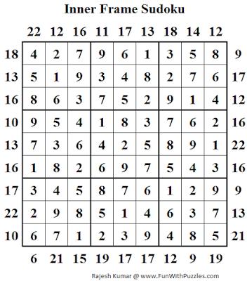 Answer of Inner Frame Sudoku (Daily Sudoku League #141)