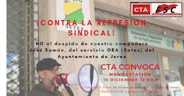 Manifestación por la readmisión ¡YA! de José Ramón en el ORA del Ayuntamiento de Jerez de la Fronte