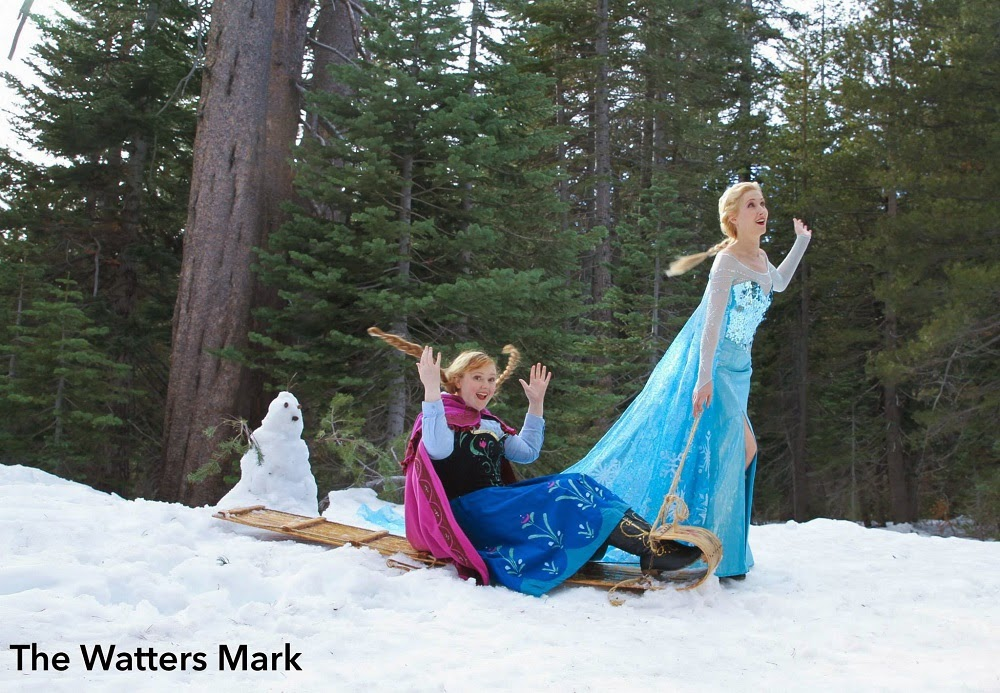 Two Weeks Ago I Finally Had The Chance To Do A Proper Photo Shoot In My Elsa Gown With Anna Lorelei Winter Near Snowy Peaks Above Lake Tahoe