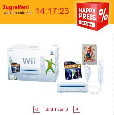 Nintendo Wii Just Dance 2 Pack mit Gutschein-Code bei Otto für 89,99 Euro