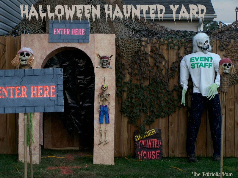 Haunted House Backyard Ideas : The Patriotic Pam Halloween Haunted Yard with Black Lights