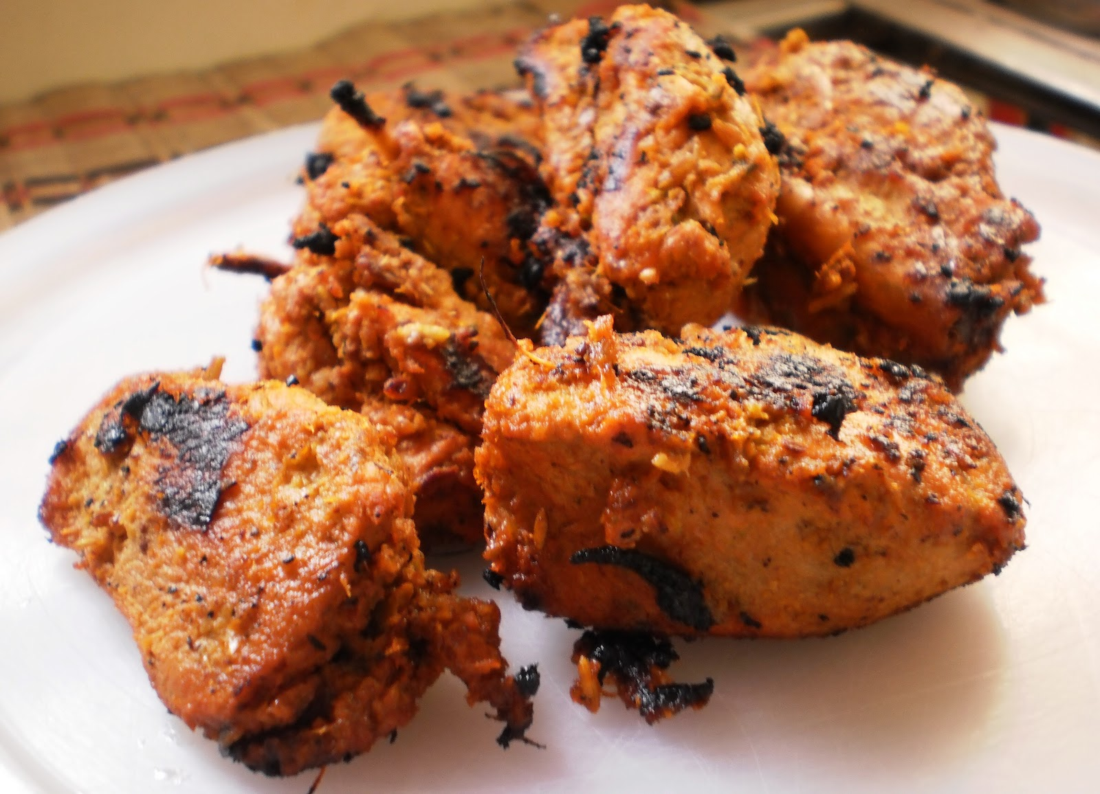 Grilled Chicken Tikka Kebab/Kabab Recipe ~ Easyfud