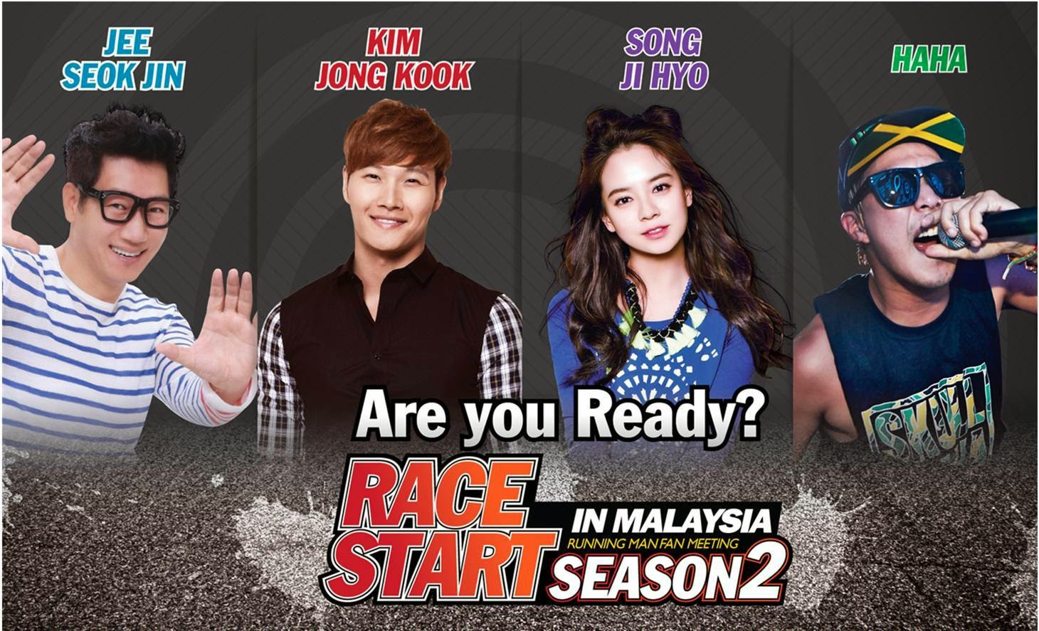Running Man, 5 Unforgettable & Painful Moments on Running Man, Race start season 2, Kim Jong Kook, haha, Song Ji Hyo, Jee Seok Jin, korean entertainment, korean wave
