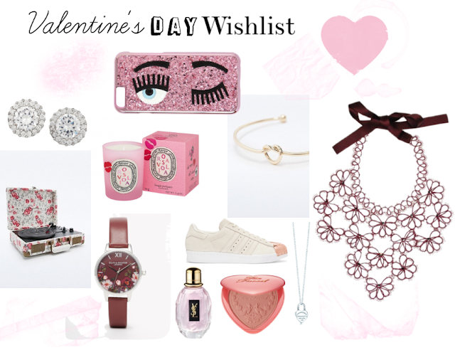 Valentine's Day Wishlist UO - ASOS - YSL - Too Faced - Rita in Palma - Tiffany - Diptyque