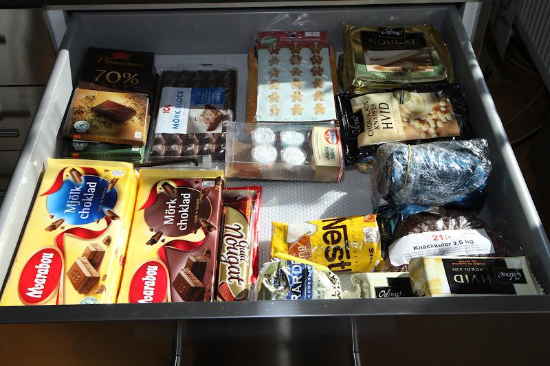 ?versta l?dan till h?ger finns choklad, choklad och choklad