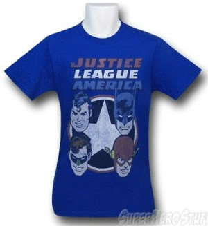 Click here to buy Justice League 4 Heads t-shirt at SuperHeroStuff!