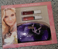 FLOWER Shine On Lip Gloss Collection purple cosmetics bag hippie love child Christmas gifts haul