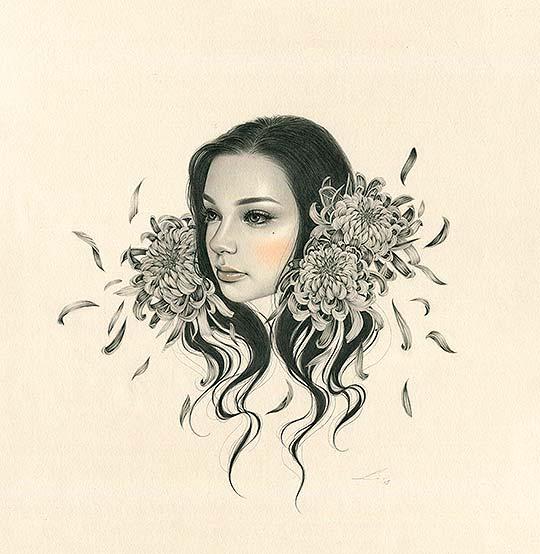 Ilustración, misterio y mujeres de Sasha Ira