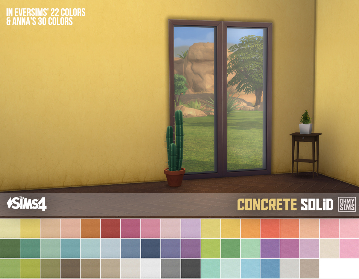 My Sims 4 Blog Concrete Wallpaper By OhMySims404