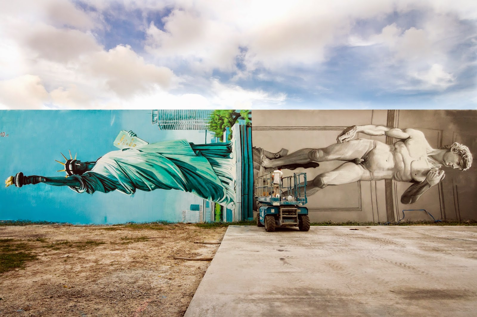 Our friend Ozmo is currently in Miami, USA where he just finished working on this impressive new piece.