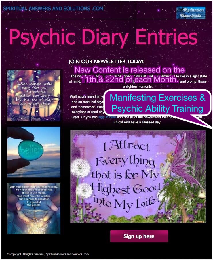 Diary Entries of a Psychic
