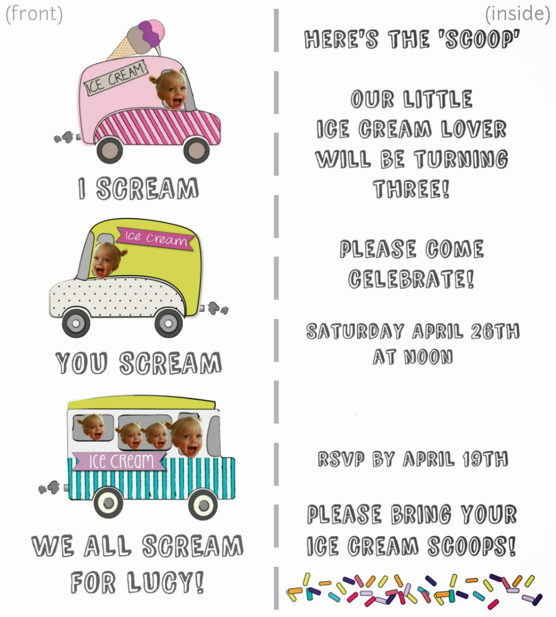 mint in the middle: an ice cream birthday party ♥