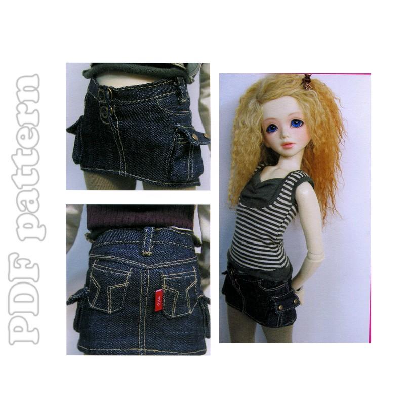 msd mini denim skirt tutorial and sewing pattern