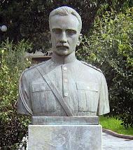 האנדרטה לזיכרו של הקולונל מרדכי פריזיס בעיר הולדתו חאלקידה