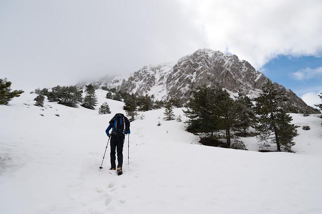 Risalendo la valle dei Curti, verso la Serra di Celano