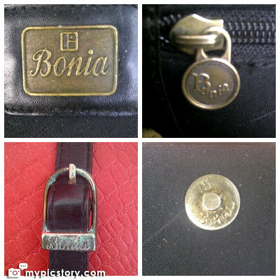 Tas Bonia Italy Black Sling Original Second Bekas
