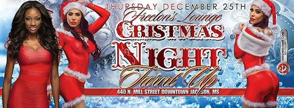 Freelon's Lounge Christmas Night Turnt Up Sexy Santa Party Flyer Design and Facebook Timeline Banner Design