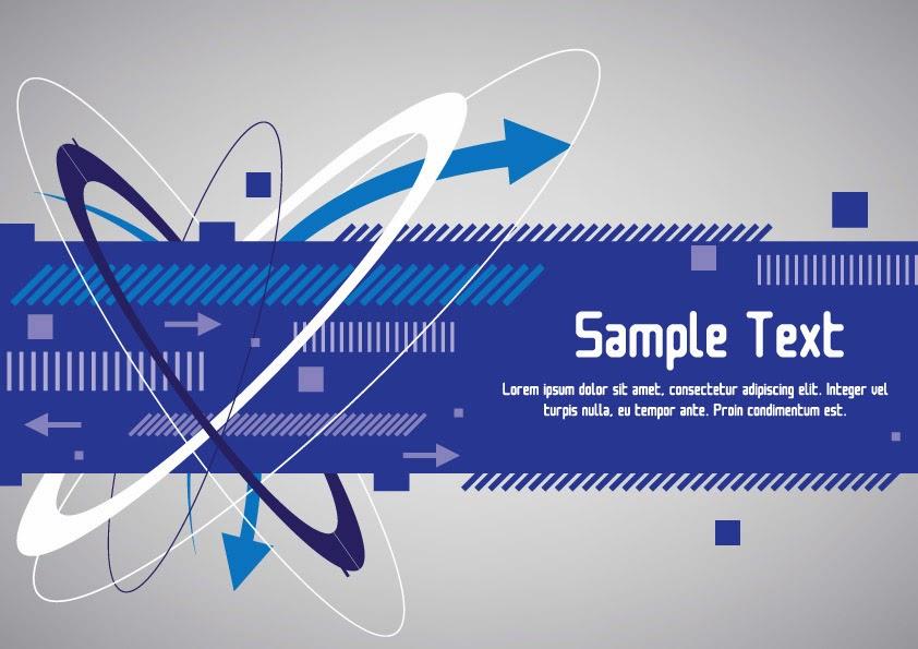 blue banner design