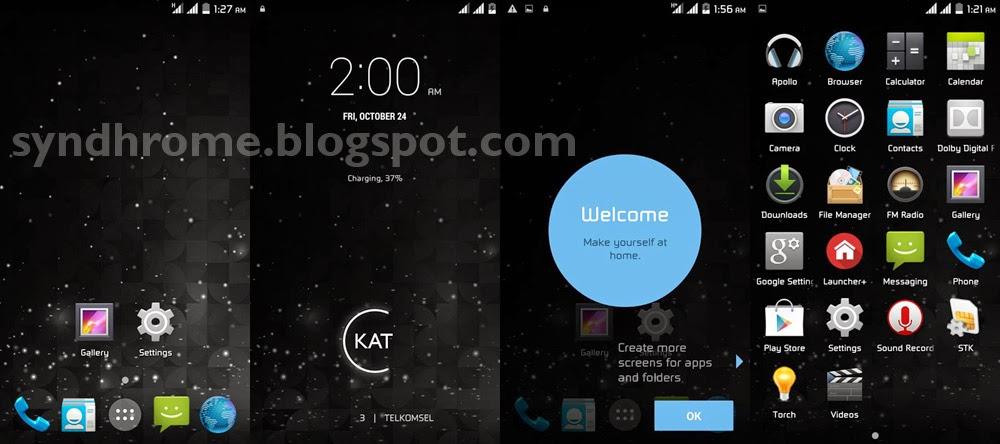 Install Custom ROM Kitkat 4.4 di Evercoss A66A Elevate Y Terbaru | SlimKAT!
