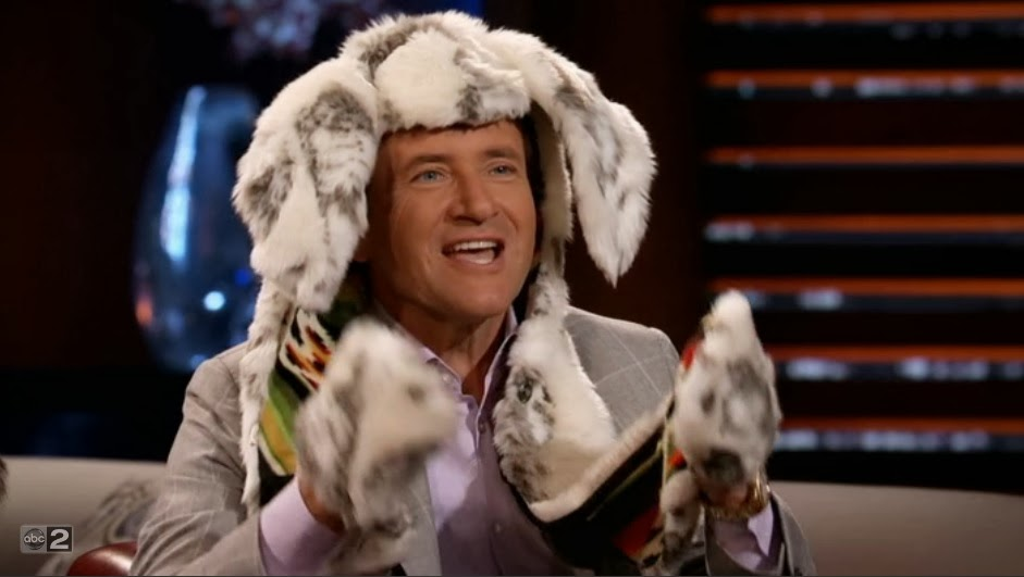 shark tank's robert herjavec wearing a spirithood
