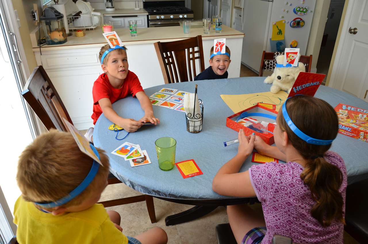 What did we do all day game day hedbanz the game hedbanz has been a big hit while the cousins have been visiting solutioingenieria Choice Image