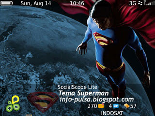 Tema BlackBerry 8520 Superman