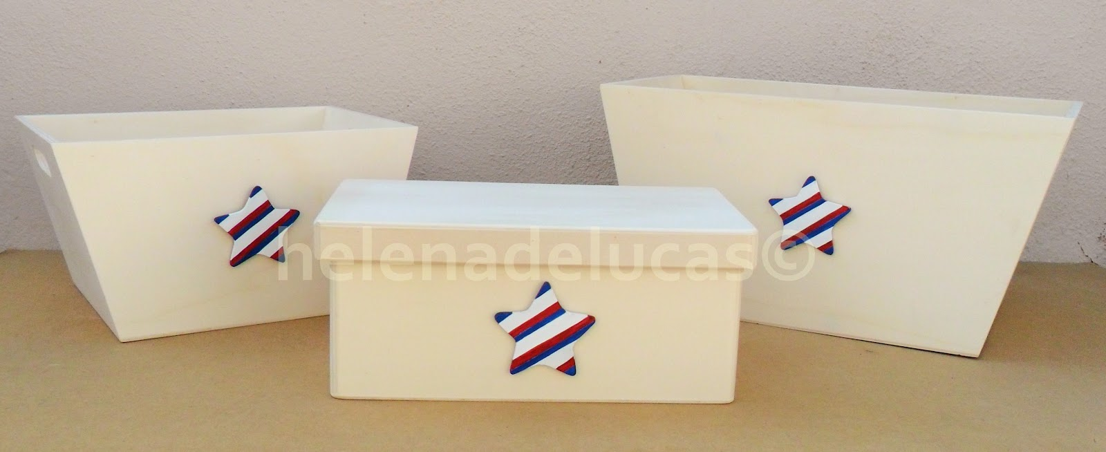 Helenadelucas cestas y caja infantil con estrella for Caja almacenaje infantil