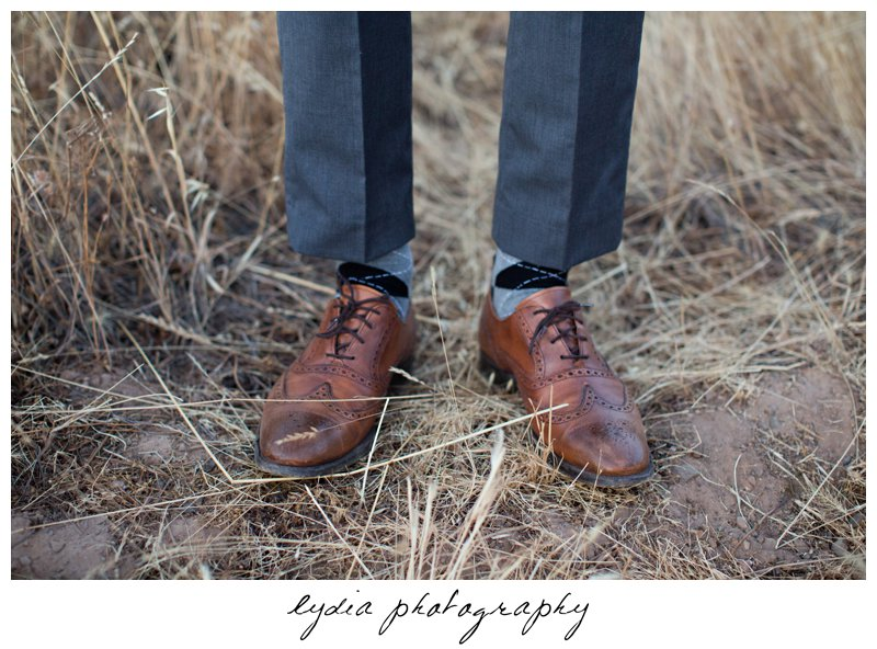 Senior guy's shoes at Forest Lake Christian senior lifestyle portraits in Rocklin, California