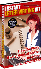 "Letter writing ""how-to"" style guide AND downloadable templates that show you how to write EVERY kind of letter."