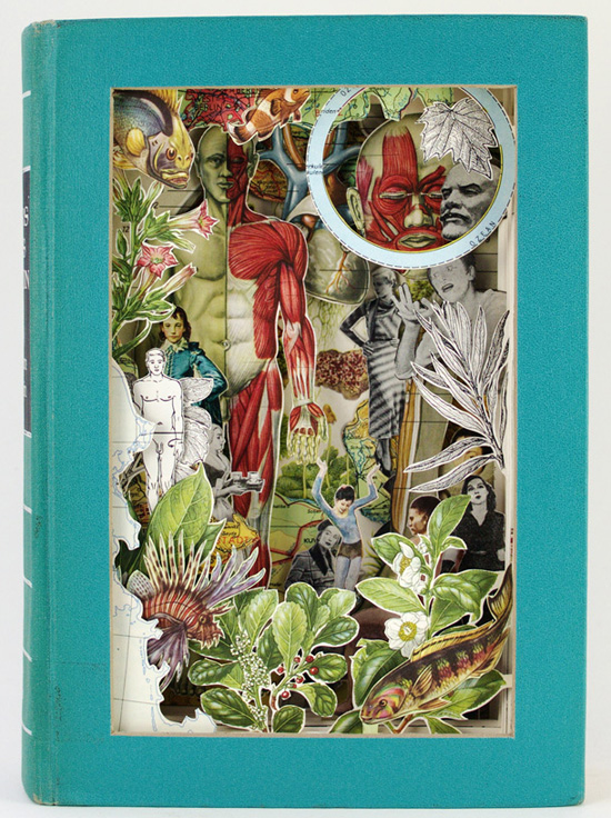 Alexander Korzer-Robinson makes amazing sculptural collages from Antiquarian Books.