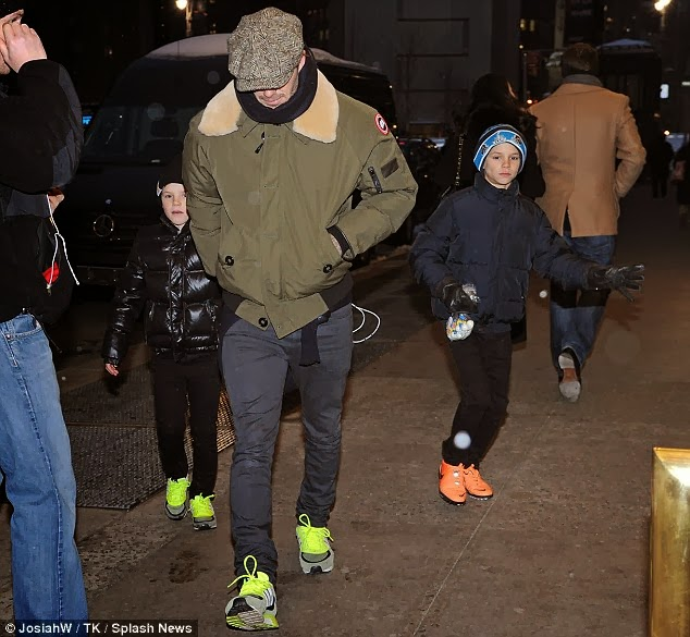 Canada Goose jackets replica authentic - Wear It Like Beckham: David Beckham walks around NYC in Canada ...