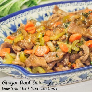 Featured Recipe | Ginger Beef Stir Fry from Sew You Think You Can Cook #SecretRecipeClub #recipe #Asian #glutenfree