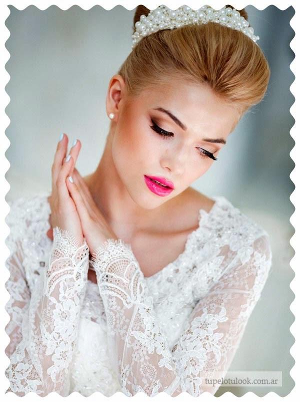 peinados 2015 para novias perlas