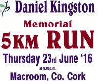 Charity 5k race in Macroom...Thurs 23rd June